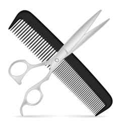 comb scissors icon