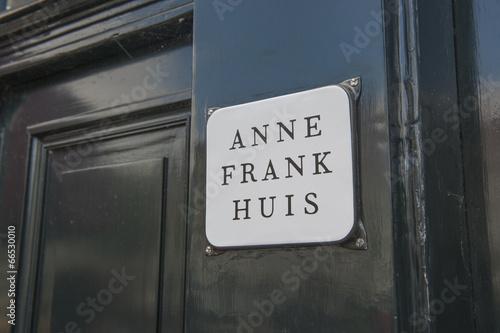 Fotobehang Historisch mon. Anne Frankhaus in Amsterdam