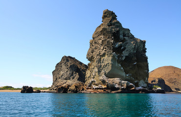View of pinnacle rock from the sea