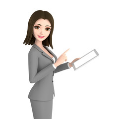 3D illustration character - business woman