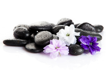 Zen pebbles. Stone spa