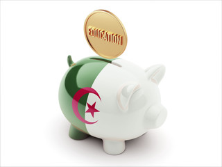 Algeria Education Concept Piggy Concept