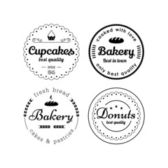 Bakery and cupcakes labels