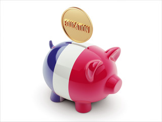 France Education Concept Piggy Concept