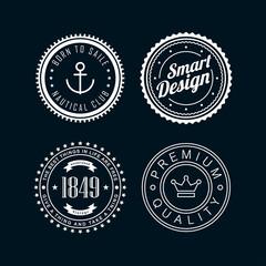 Vintage badges white 3