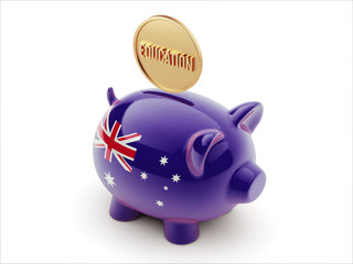 Australia Education Concept Piggy Concept