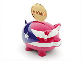 Puerto Rico Education Concept Piggy Concept