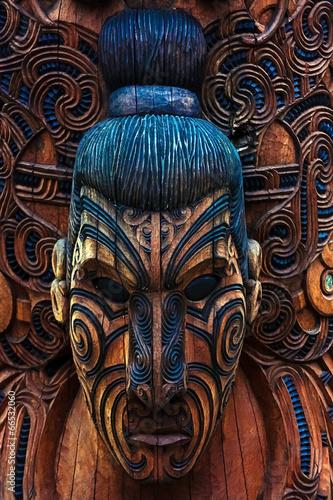 Leinwanddruck Bild Maori Totem