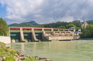 Wasserkraftwerk Schwabegg an der Drau / Unterkärnten