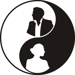yin and yang - male and female principles