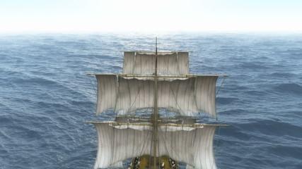 old ship in sea