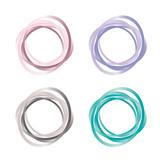 Fototapety Set - Kreise - Kringel - Pastellfarben