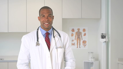 Close up of male doctor with stethoscope