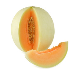 cantaloupe isolate on white background