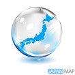 日本地図  泡