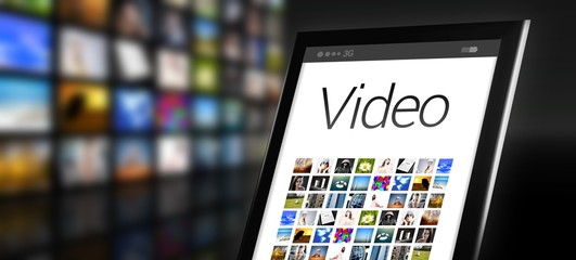 Video tablet with many app icons