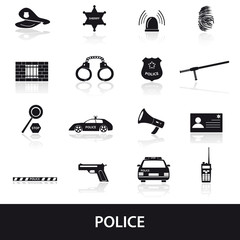 police icons set eps10