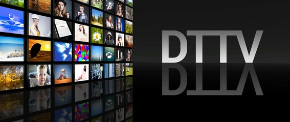 DTTV television screens black background