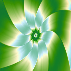 Pale Blue Green and White Flower