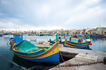 Marsaxlokk with boats, Malta