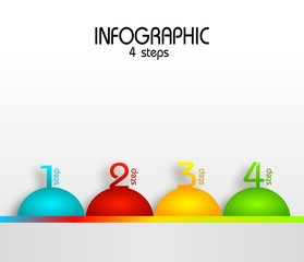 Infographic template for four steps