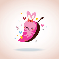cute bunny in love