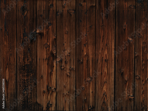 Poster Hout Old dark wood texture background