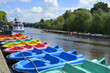 Boats on the river Dee in Chester - 66538233