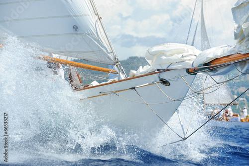 canvas print picture Yacht, dettagli