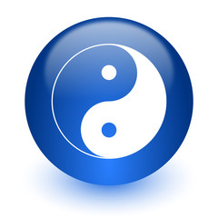 ying yang computer icon on white background