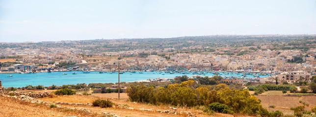 View over Marsaxlokk bay, Malta