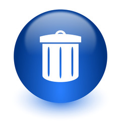 recycle computer icon on white background