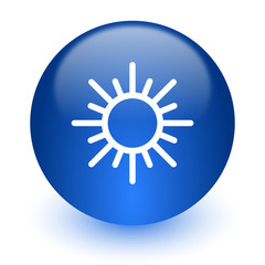 sun computer icon on white background