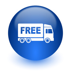 free delivery computer icon on white background