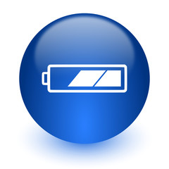 battery computer icon on white background
