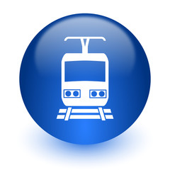 train computer icon on white background