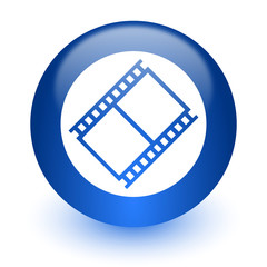 film computer icon on white background