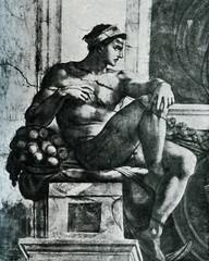 Michelangelo Nude Male Sistine Chapel