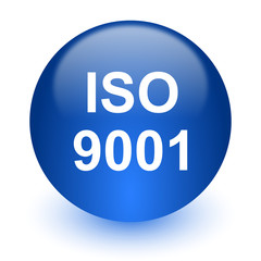 iso 9001 computer icon on white background