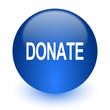 donate computer icon on white background