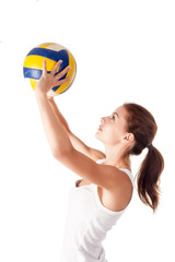 Young attractive volleyball player