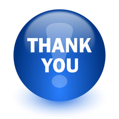 thank you computer icon on white background