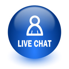 live chat computer icon on white background
