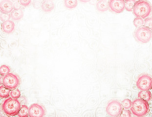 Arrangement. Abstract Festive Floral Background