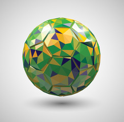 Vector Low Poly Style Soccer Ball