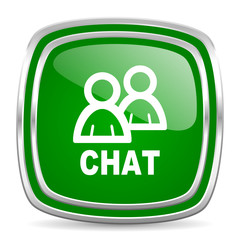 chat glossy computer icon on white background
