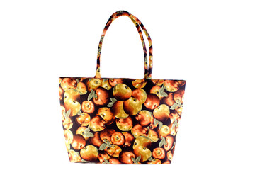 Women bag with red apple