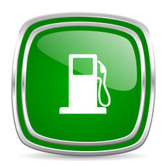 petrol glossy computer icon on white background