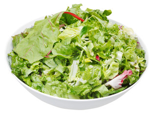 fresh italian lettuce mix in bowl