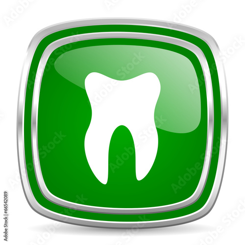 tooth glossy computer icon on white background